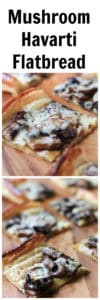 Mushroom Havarti Flatbread Super Long Collage with Text Overlay