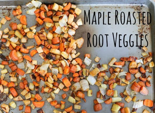 Maple Roasted Root Veggies