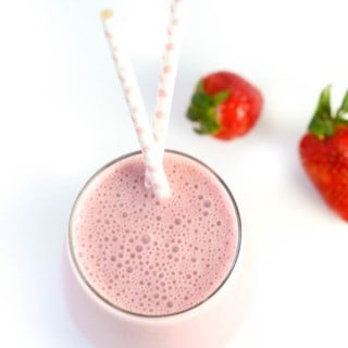 Tropical Strawberry and Coconut Smoothie