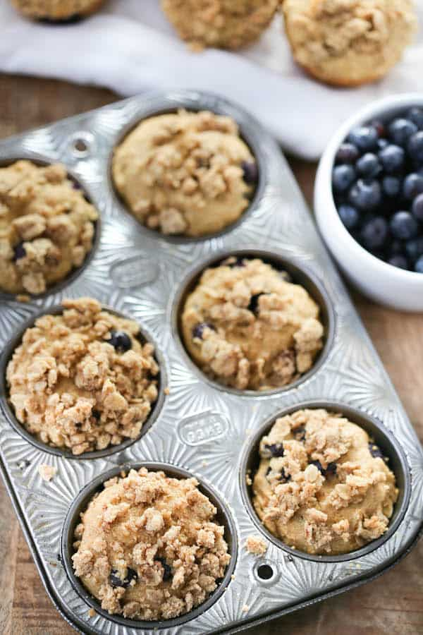 Whole Grain Blueberry Muffins-4