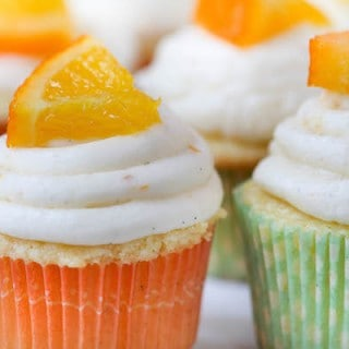 Mini Orange Creamsicle Cupcakes + Surprise Baby Shower!