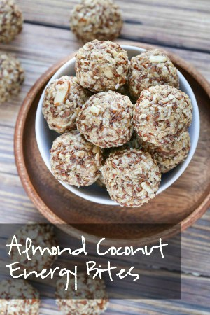 Almond Coconut Energy Bites