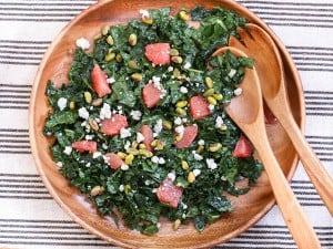 Chopped Kale and Grapefruit Salad