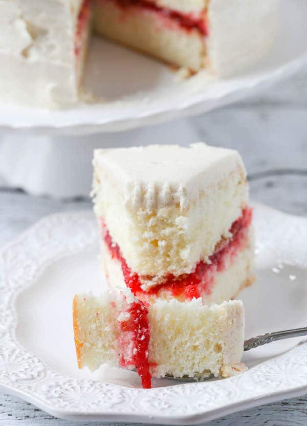 Lemon Layer Cake with Raspberry Filling-6