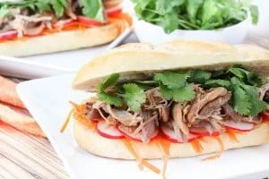 Slow Cooker Pulled Pork Bahn Mi