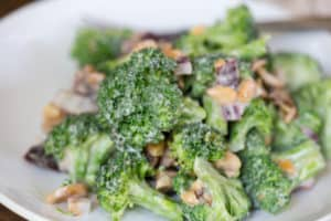 Lightened Up Broccoli Salad
