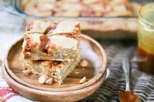 Brown Butter Salted Caramel Butterscotch Blondies