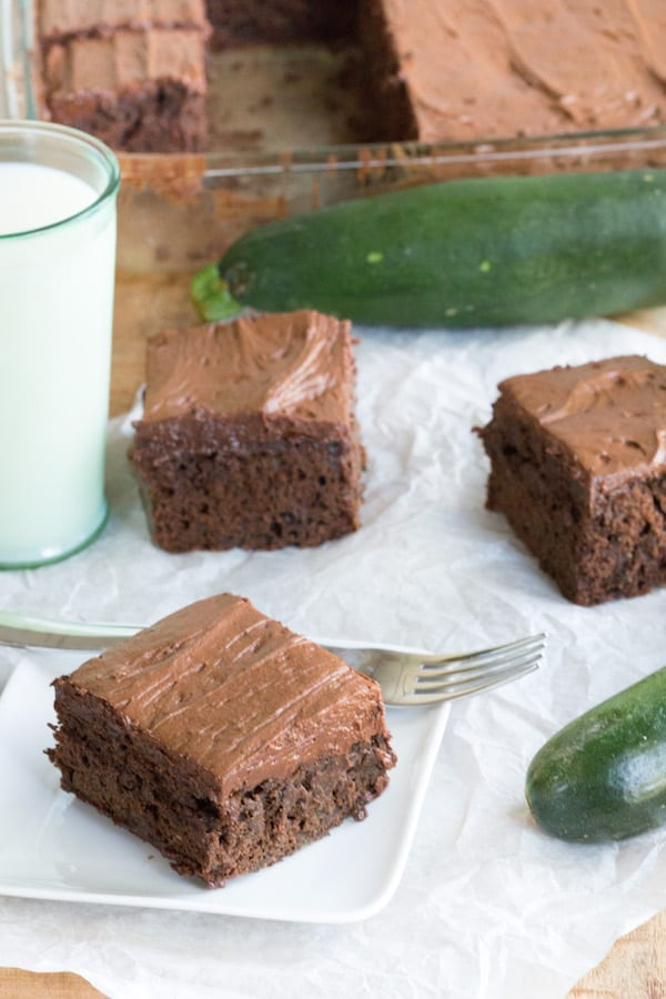 Chocolate Zucchini Cake with Chocolate Frosting