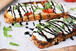 Open Faced Caprese Sandwiches