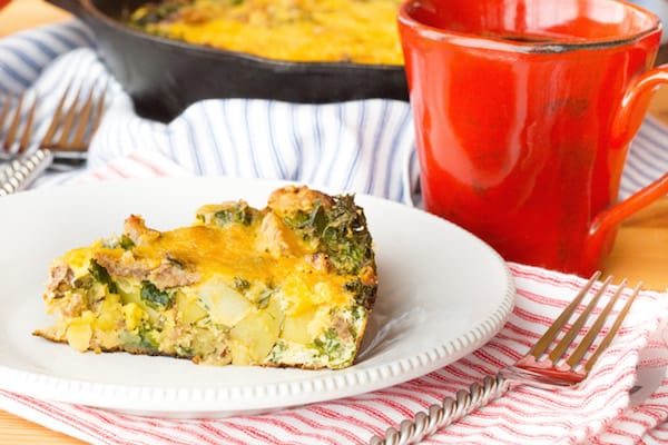 Potato, Sausage, and Kale Breakfast Casserole