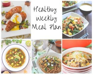 Healthy Weekly Meal Plan 9.19.15
