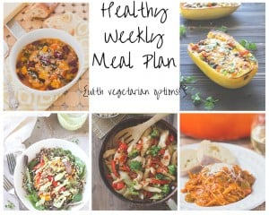 Healthy Weekly Meal Plan with Vegetarian Options