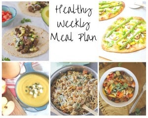 Healthy Weekly Meal Plan: Week of 9/26