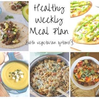 Healthy Weekly Meal Plan 9.26.15