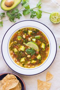 White Bean and Avocado Lime Soup