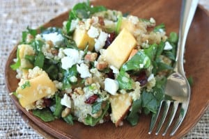 Apple Pecan and Goat Cheese Quinoa Salad