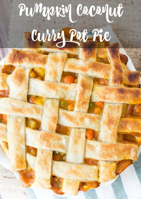 Pumpkin Coconut Curry Pot Pie