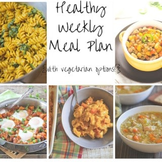 Healthy Weekly Meal Plan Week of 10.17.15