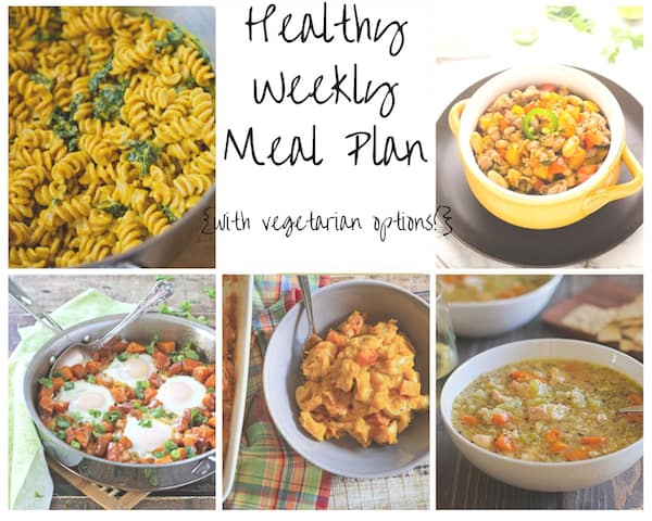 Healthy Weekly Meal Plan 10.17.15