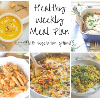 Healthy Weekly Meal Plan Week of 10.24.15
