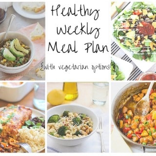 Healthy Weekly Meal Plan Week of 10.10.15