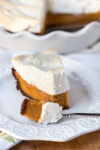 Sweet Potato Pie with Bourbon Meringue