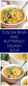 Tuscan Bean and Butternut Squash Soup