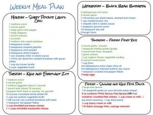 Healthy Weekly Meal Plan with Grocery List!