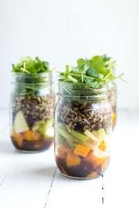 Fall Mason Jar Salads
