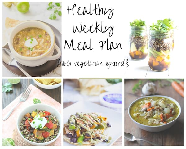 Healthy Weekly Meal Plan - Week of 11.28.15