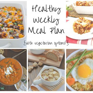 Healthy Weekly Meal Plan Week of 11.7