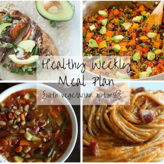 Healthy Weekly Meal Plan Week of 11.14