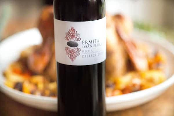 Spanish Spiced Turkey - Spotlight on the Bottle of Wine