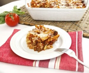 Baked Penne Pasta with Smoked Mozzarella