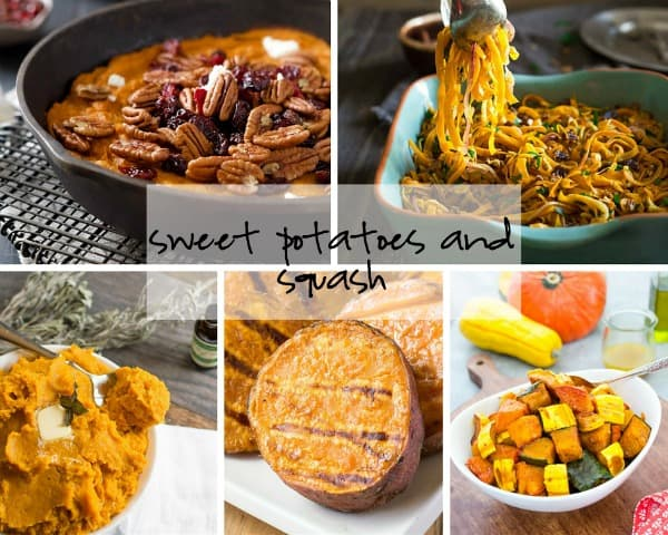 sweet potato and squash