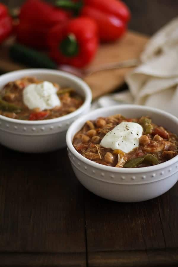 Crock Pot Chicken Fajita Chili