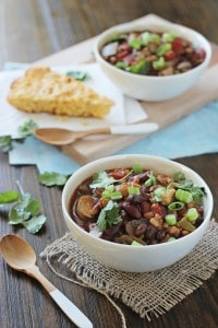 Crock Pot Vegetarian Chili with Farro