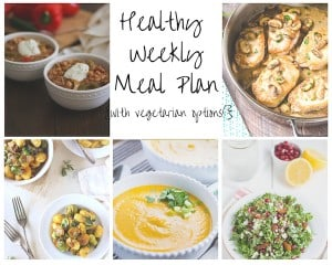 Healthy Weekly Meal Plan
