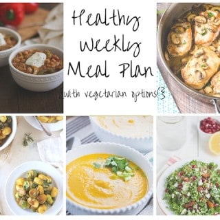 Healthy Weekly Meal Plan Week of 12.19.15