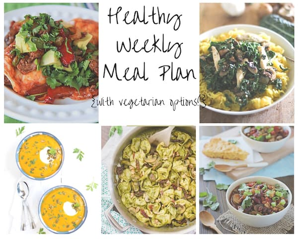 Healthy Weekly Meal Plan Week of 12.5.15