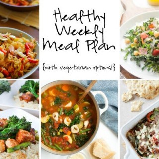 Healthy Weekly Meal Plan Week of 1.16