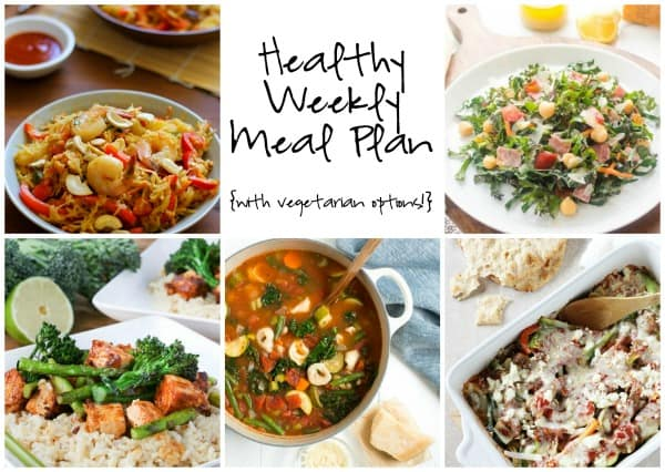 Healthy Weekly Meal Plan Week of 1.16.16