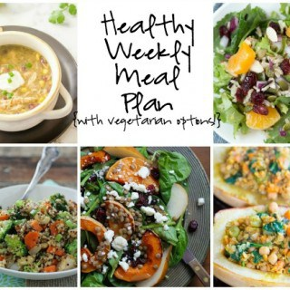 Healthy Weekly Meal Plan Week of 1.2.16