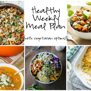Healthy Weekly Meal Plan Week of 1.9.16