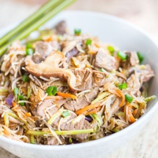 Korean Steak and Vegetable Noodle Bowls