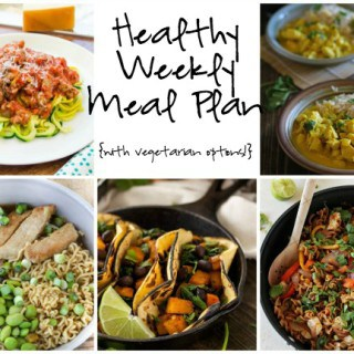 Healthy Weekly Meal Plan Week of 1.23.16