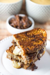 Caramelized Onion and Gruyere Grilled Cheese Sandwiches