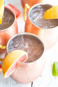 Grapefruit Moscow Mules - Served in Jars on the Table