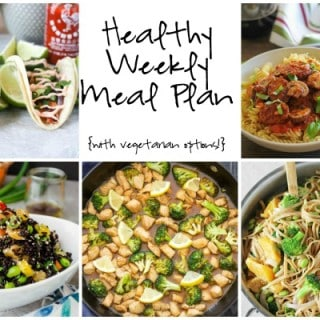 Healthy Weekly Meal Plan Week of 2.20.16