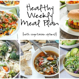 Healthy Weekly Meal Plan Week of 2.27.16